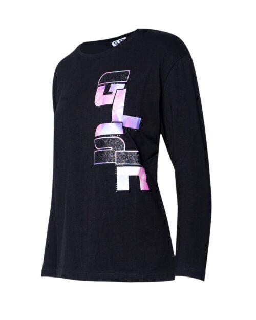 T-shirt manica lunga GLSR STAMPA LATERALE Nero - Foto 3