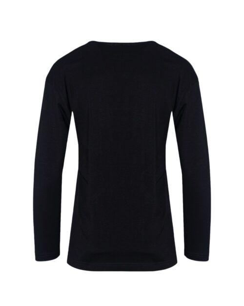 T-shirt manica lunga GLSR STAMPA LATERALE Nero - Foto 4