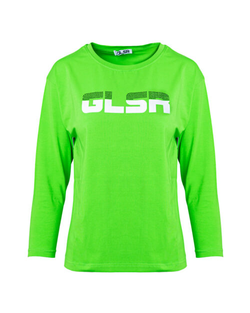 T-shirt manica lunga Glsr STAMPA LOGO FRONTALE Verde – 59352