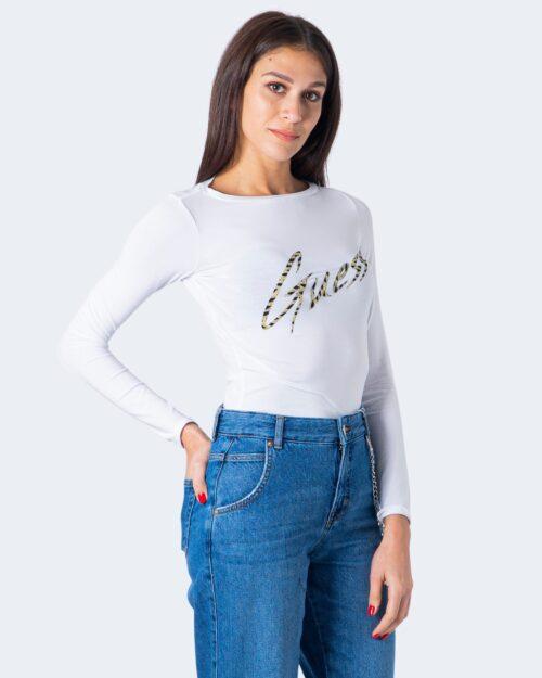 T-shirt manica lunga Guess NORAH TEE Bianco - Foto 1