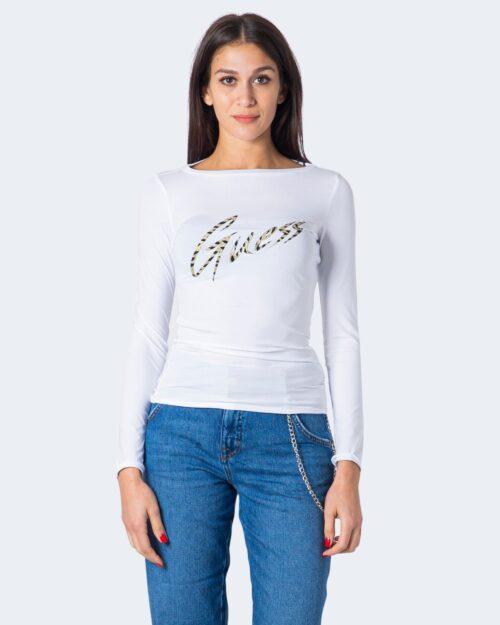 T-shirt manica lunga Guess NORAH TEE Bianco - Foto 2