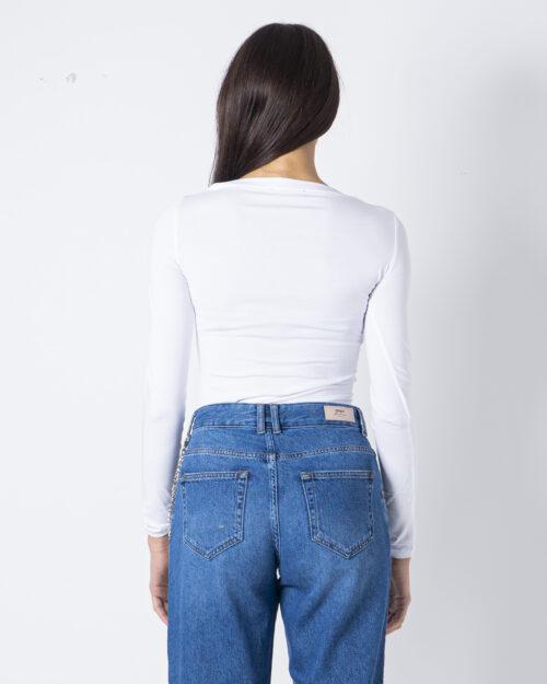 T-shirt manica lunga Guess NORAH TEE Bianco - Foto 4