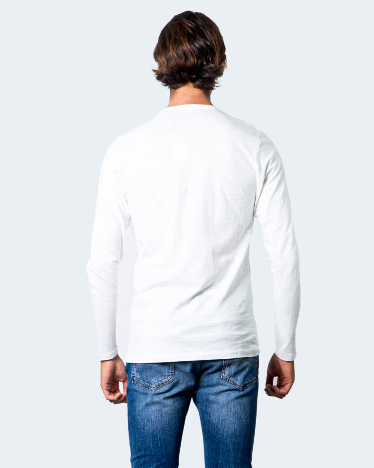 T-shirt manica lunga Jack Jones Split Neck Tee L/S Noos Panna - Foto 3