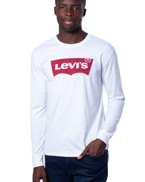 T-shirt manica lunga Levi's® LS GRAPHIC TEE Bianco – 22223