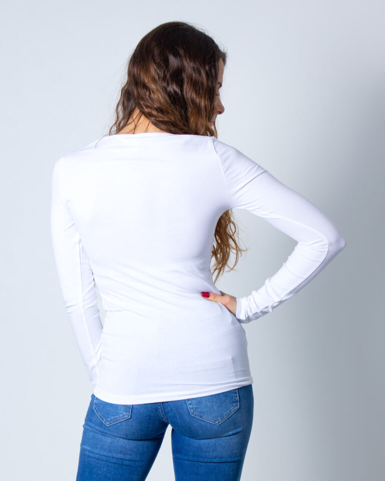 T-shirt manica lunga Only LIVE LOVE L/S O-NECK TOP NOOS JRS Bianco - Foto 2