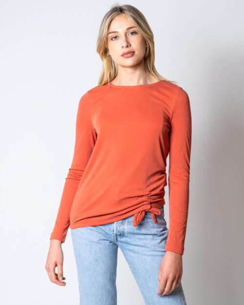 T-shirt manica lunga Only Fresh Life L/S Knot Top Jrs Mattone – 45504