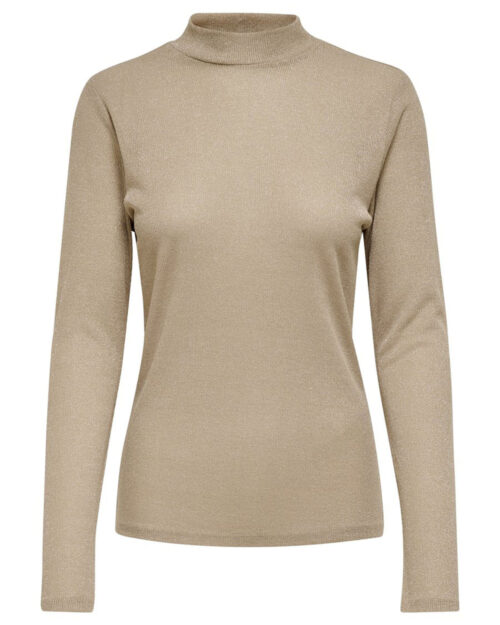 T-shirt manica lunga Only DIANA LUREX L/S TOP JRS NOOS Oro - Foto 4