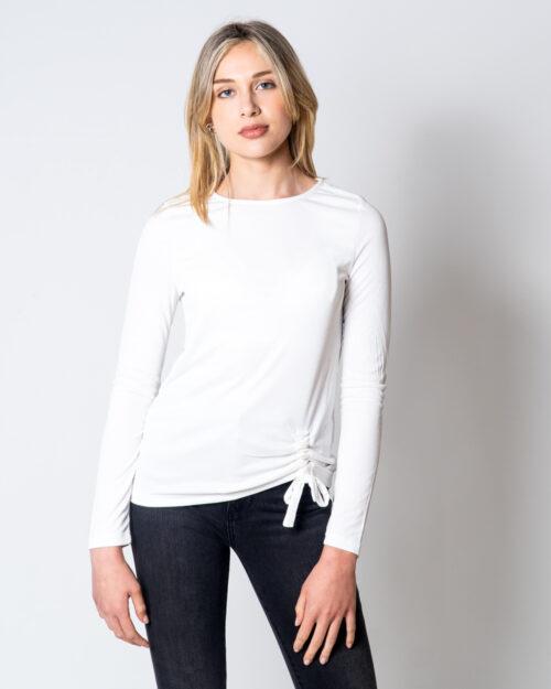 T-shirt manica lunga Only Fresh Life L/S Knot Top Jrs Panna – 45504