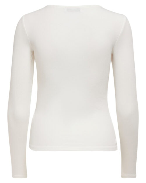 T-shirt manica lunga Only Mary L/S Detail Top Jrs Panna – 61340