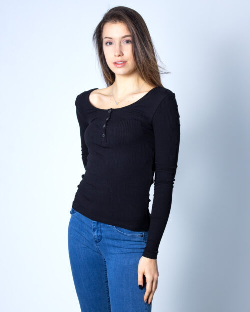 T-shirt manica lunga Pieces Kitte LS Top Noos BC Nero – 41906