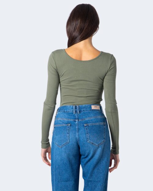 T-shirt manica lunga Pieces Kitte LS Top Noos BC Color Verde Oliva – 59401