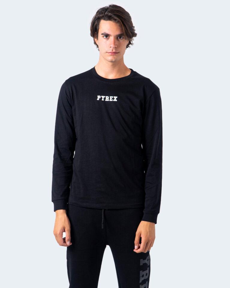 T-shirt manica lunga Pyrex STAMPA RETRO Nero - Foto 3