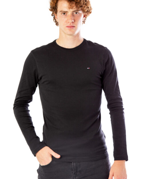 T-shirt manica lunga Tommy Hilfiger Jeans Original Rib Nero - Foto 1