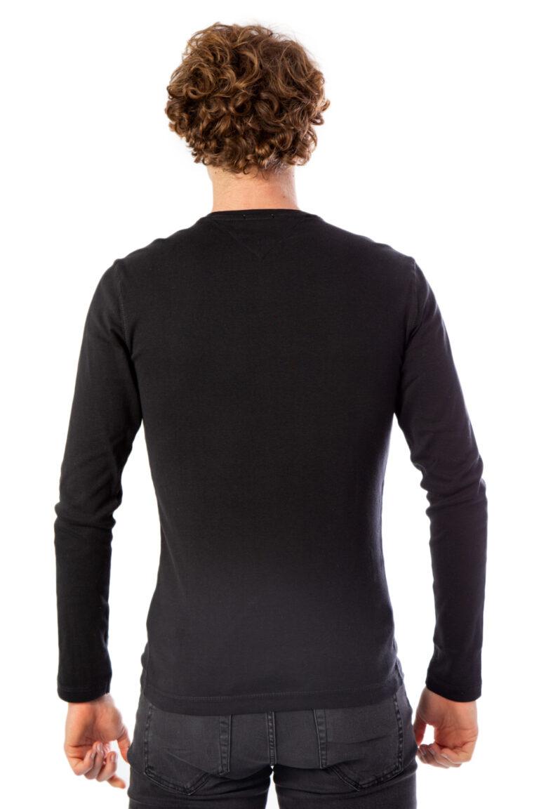 T-shirt manica lunga Tommy Hilfiger Jeans Original Rib Nero - Foto 2