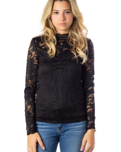T-shirt manica lunga Vila Clothes VISTASIA L/S LACE TOP Nero – 24930