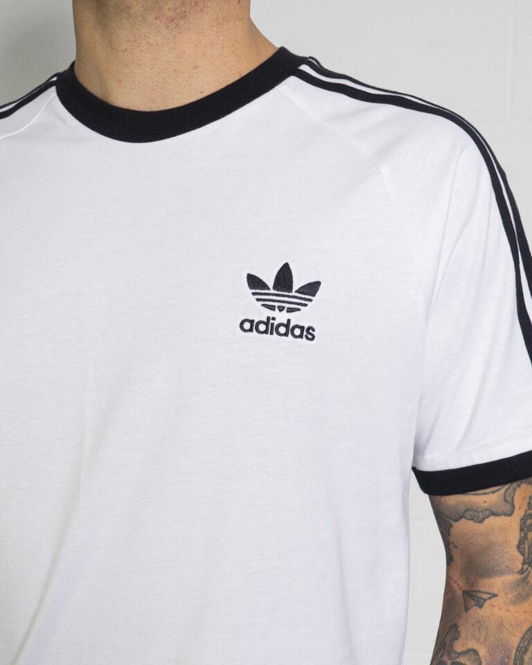 T-shirt Adidas STRIPES Bianco - Foto 4