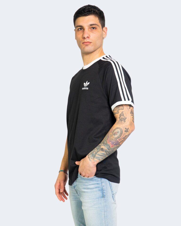 T-shirt Adidas STRIPES Nero - Foto 1