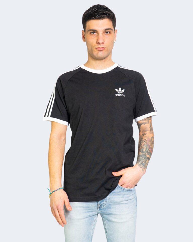 T-shirt Adidas STRIPES Nero - Foto 2