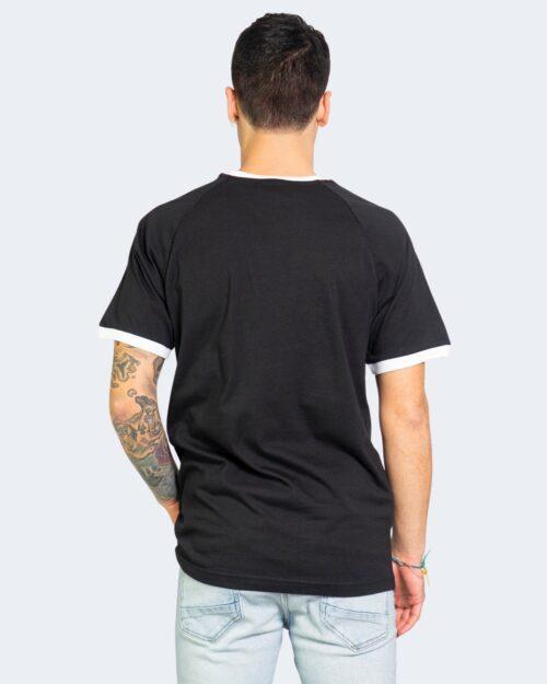T-shirt Adidas STRIPES Nero - Foto 3