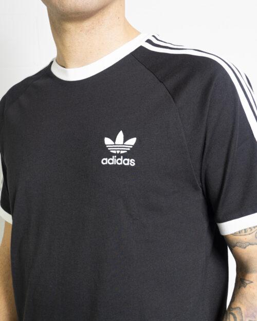 T-shirt Adidas STRIPES Nero - Foto 4
