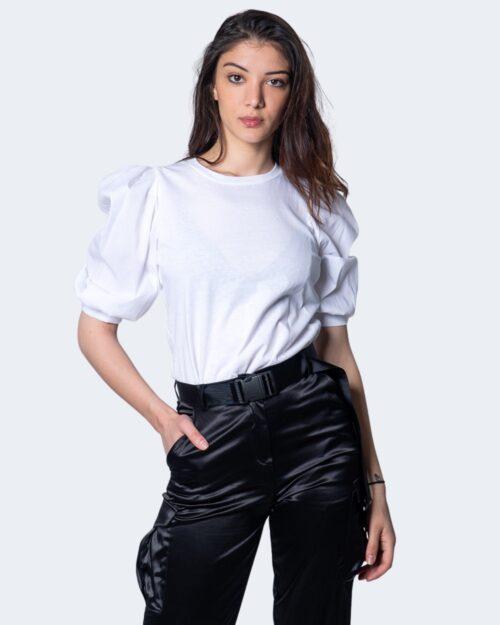 T-shirt Akè MANICA PALLONCINO Bianco – 45378
