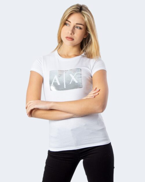 T-shirt Armani Exchange PAILLETTES Bianco - Foto 1