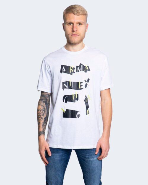 T-shirt Armani Exchange STAMPA RICAMO 3KZTFK ZJBVZ Bianco - Foto 1