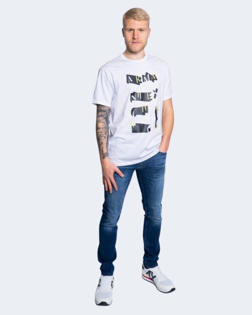 T-shirt Armani Exchange STAMPA RICAMO 3KZTFK ZJBVZ Bianco - Foto 2