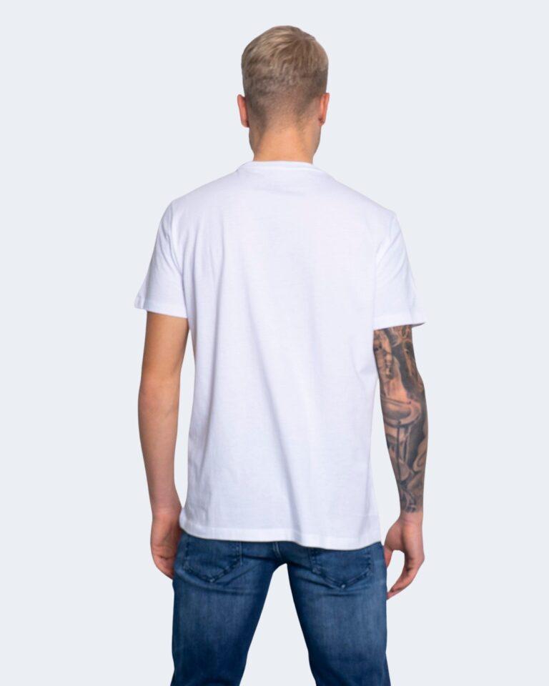 T-shirt Armani Exchange STAMPA RICAMO 3KZTFK ZJBVZ Bianco - Foto 4