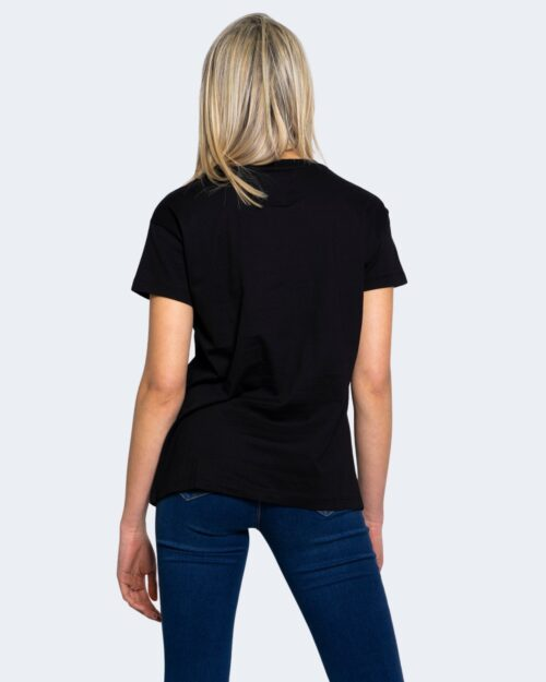 T-shirt Armani Exchange LOGO BORCHIE Nero - Foto 3