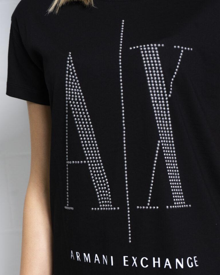T-shirt Armani Exchange LOGO BORCHIE Nero - Foto 4