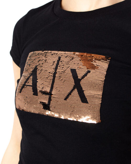 T-shirt Armani Exchange PAILLETTES Nero - Foto 4