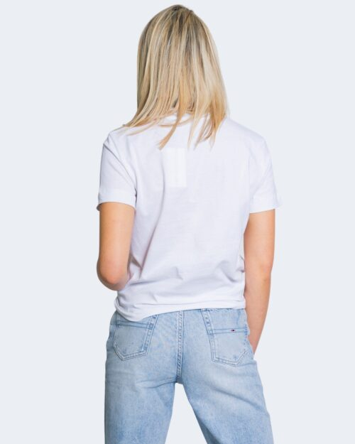 T-shirt Calvin Klein Jeans MULTICOLORED LOGO Bianco - Foto 3