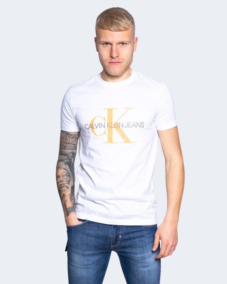 T-shirt Calvin Klein Jeans SEASONAL MONOGRAM Bianco - Foto 1