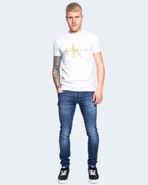 T-shirt Calvin Klein Jeans SEASONAL MONOGRAM Bianco - Foto 2