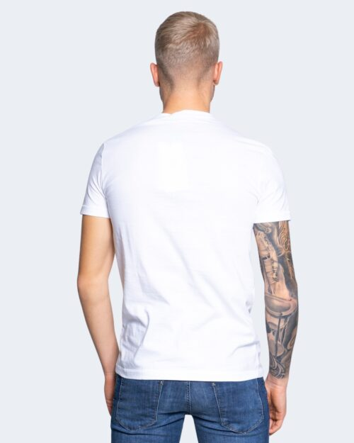 T-shirt Calvin Klein Jeans SEASONAL MONOGRAM Bianco - Foto 4
