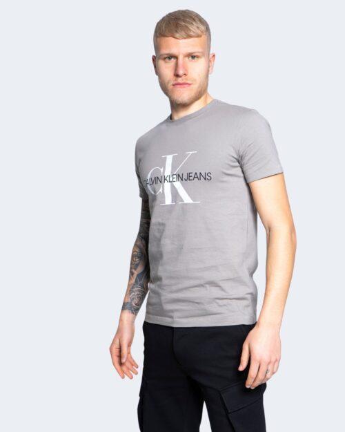 T-shirt Calvin Klein Jeans SEASONAL MONOGRAM Grigio - Foto 1