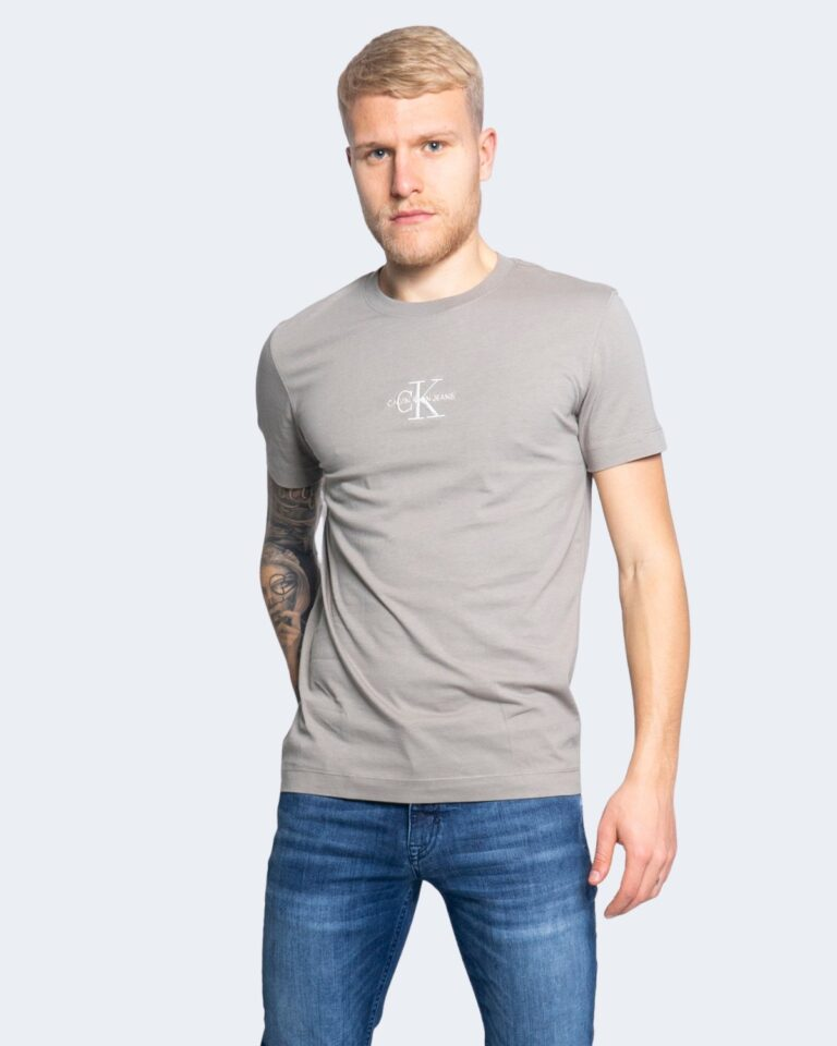 T-shirt Calvin Klein Jeans NEW ICONIC ESSENTIAL Grigio Chiaro - Foto 1