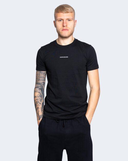 T-shirt Calvin Klein Jeans MICRO BRANDING Nero - Foto 1