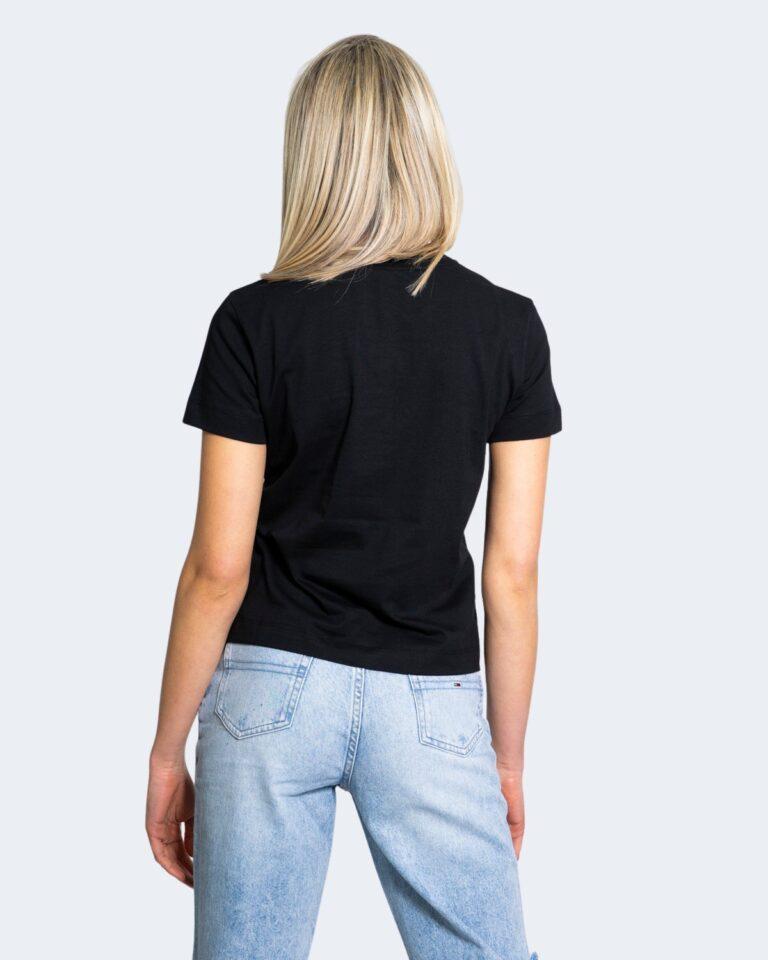T-shirt Calvin Klein Jeans MULTICOLORED LOGO Nero - Foto 3