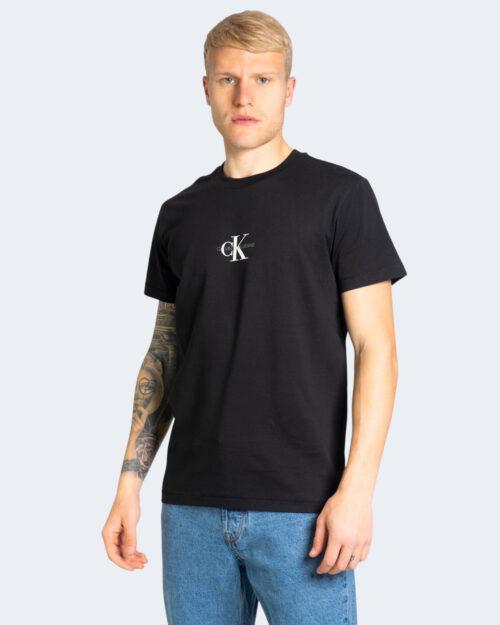 T-shirt Calvin Klein Jeans SMALL CHEST MONOGRAM Nero - Foto 1