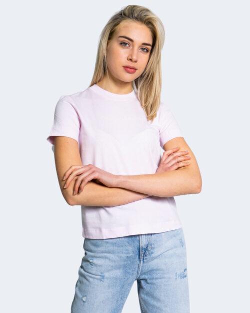T-shirt Calvin Klein Jeans SHRUNKEN INSTITUTION Rosa - Foto 1