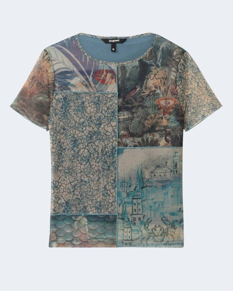 T-shirt Desigual OCEAN Azzurro - Foto 1