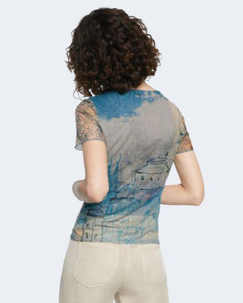 T-shirt Desigual OCEAN Azzurro - Foto 4