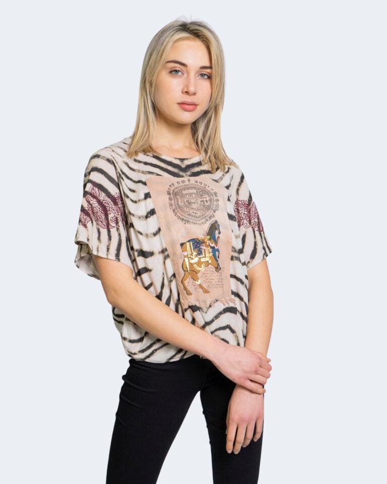 Desigual T-shirt Stampa tigrata 20wwtk56 - 1