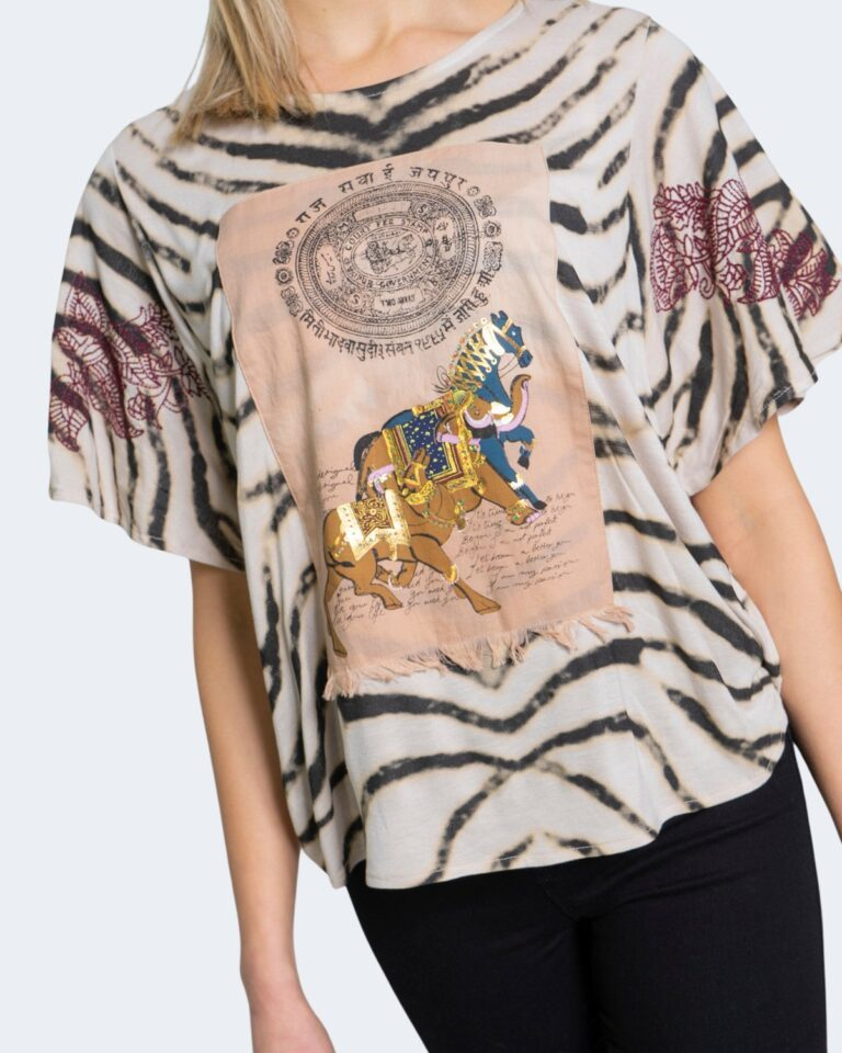 Desigual T-shirt Stampa tigrata 20wwtk56 - 3