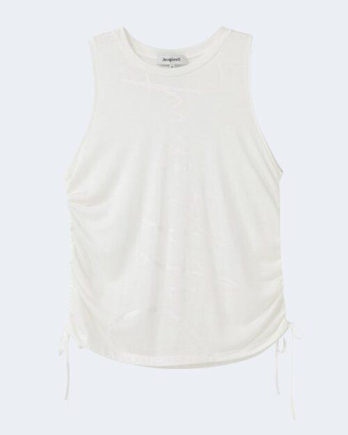 Canotta Desigual TANK DRAWSTRING Bianco – 65584