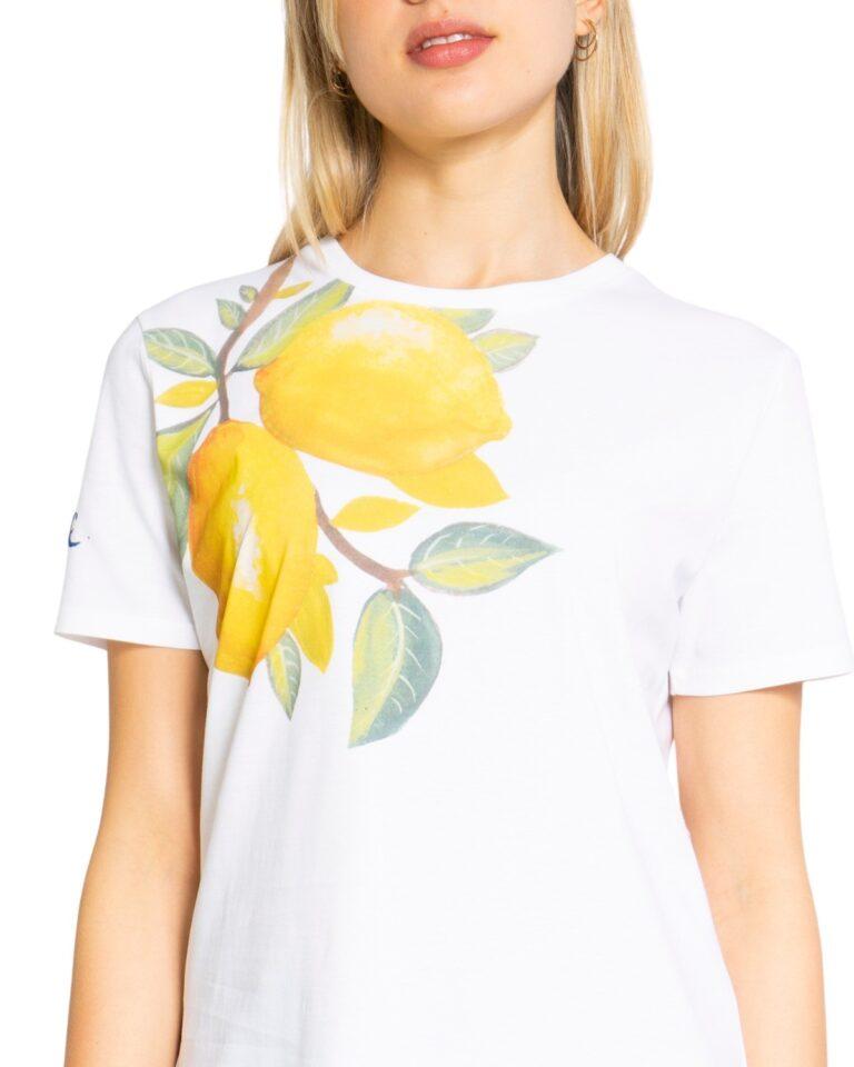T-shirt Desigual LEMONS Bianco - Foto 3