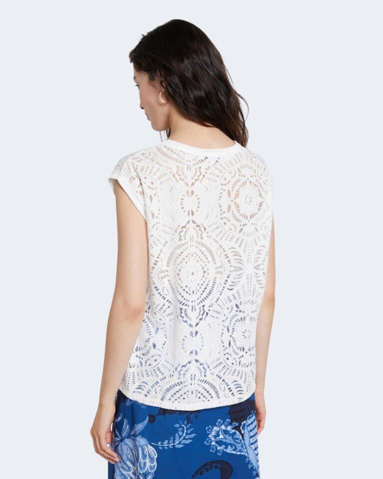 T-shirt Desigual NILO Bianco - Foto 3