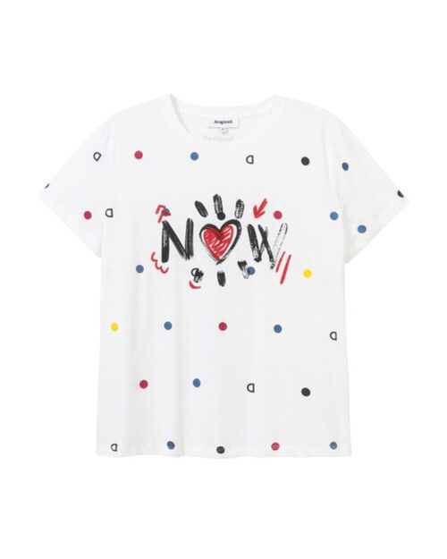 T-shirt Desigual NOW Bianco - Foto 2